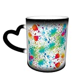 maichengxuan Taza de la novedad de la taza de la pintura de la salpicadura de café de la taza del cambio de color divertido taza de
