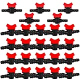Jooheli 25 Piezas Válvula de Riego por Goteo,Válvula de Interruptor de Riego de Goteo para el Riego de Jardines de Césped y Acuarios,Gotero Conector Riego 16mm de Accesorios
