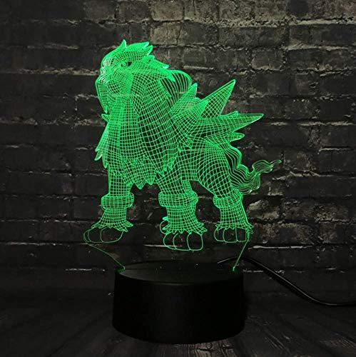 Led Lava Lampe Spiel Actionfigur 3D RGB Lampe Rolle Nachtlicht
