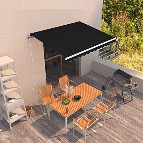 Außenmarkise,Terrassenmarkise,Gelenkarmmarkise Automatisch 300x250 cm Anthrazit