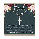 Collar Regalo Para Madre, Mamá, Día de la Madre, Cumpleaños, Día de la Mujer, Infinity Cross (rose-gold-plated-brass, NA)