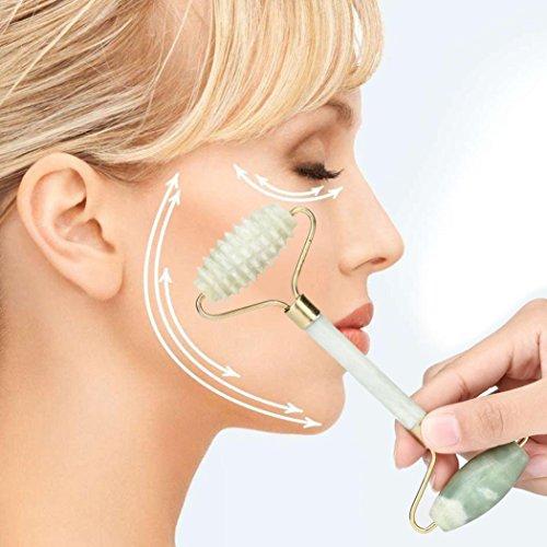 Anti-Aging-Jade-Roller, natürlicher Massage-Roller für Gesicht und Körper, gesunde Kältetherapie, Kristall-Massagerolle
