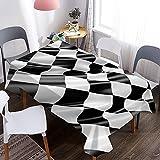 Mantel 3D con patrón de Arte Americano, Mantel Decorativo Impermeable y a Prueba de Aceite, Utilizado en Cocina, Comedor M-10 140x180cm