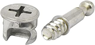 Flyshop Furniture Cabinet Connector #261 Cam Lock Fittings 10 Sets Self-tapping Thread 28mm Length Dowel