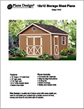 16' X 12' Gable Storage Shed Project Plans -Design #21612
