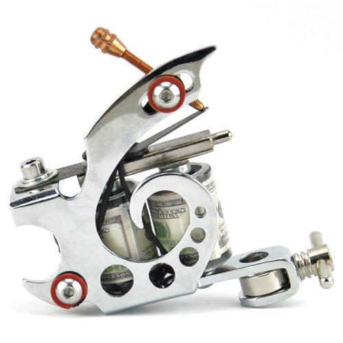 Generic Stilvolle Kühle Stanzen Stahl 8 Wickelt Spule Aufgewickelt Dual-Tattoo Maschine Liner Shader