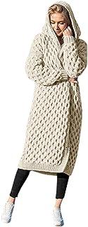 Women Hoodies Sweater Coat, Ladies Solid Long Sleeve Winter Warm Knitted Cardigan Outwear