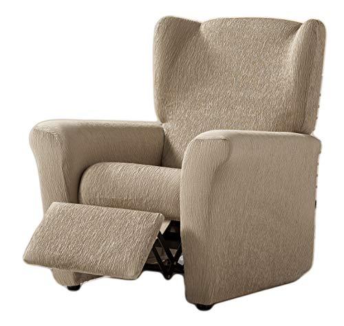 Zebra Textil Elastische Husse Relax-Sessel Beta Größe 1 Sitzer (Standard), Farbe Beige (Mehrere Farben verfügbar)