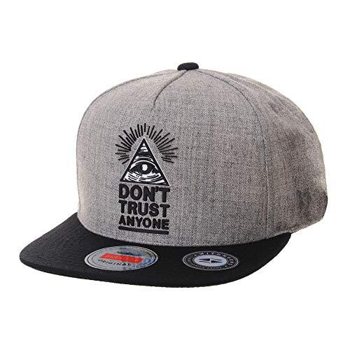 WITHMOONS Baseballmütze Mützen Caps Snapback Hat Illuminati Patch Hip Hop Baseball Cap AL2390 (Grey)