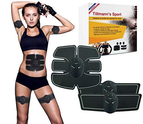 Electrostimulateur Musculaire-Un corps sculpté, une silhouette aux lignes parfaites-Hommes et Femmes. Retrouvez des muscles dessinés rapidement. Instructions en Francais