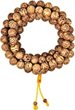 Unisex Yoga Meditation 108 Tibetan Natural Bodhi Seeds Prayer Beads Mala Wrap Bracelet Necklace (Polished Dragon Eye Bodhi Seeds)