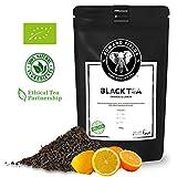 Edward Fields - Té Negro Orgánico de alta calidad con Naranja y Limón. Ingredientes y aromas naturales. Cantidad: 100g. Formato: Granel. Origen: India. Detox, antioxidante, adelgazante.