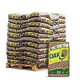 Holzpellets Oak Heizpellets Hartholz Eiche Wood Pellet Öko Energie Heizung Kessel Sackware 8mm 15kg x 66 Sack 990kg / 1 Palette Zunami