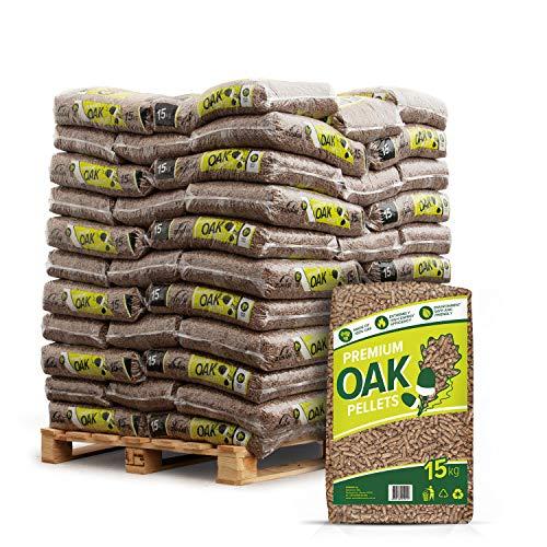 PALIGO Holzpellets Oak Heizpellets Hartholz Wood Pellet Öko Energie Heizung Kessel Sackware 6mm 15kg x 66 Sack 990kg / 1 Palette Zunami