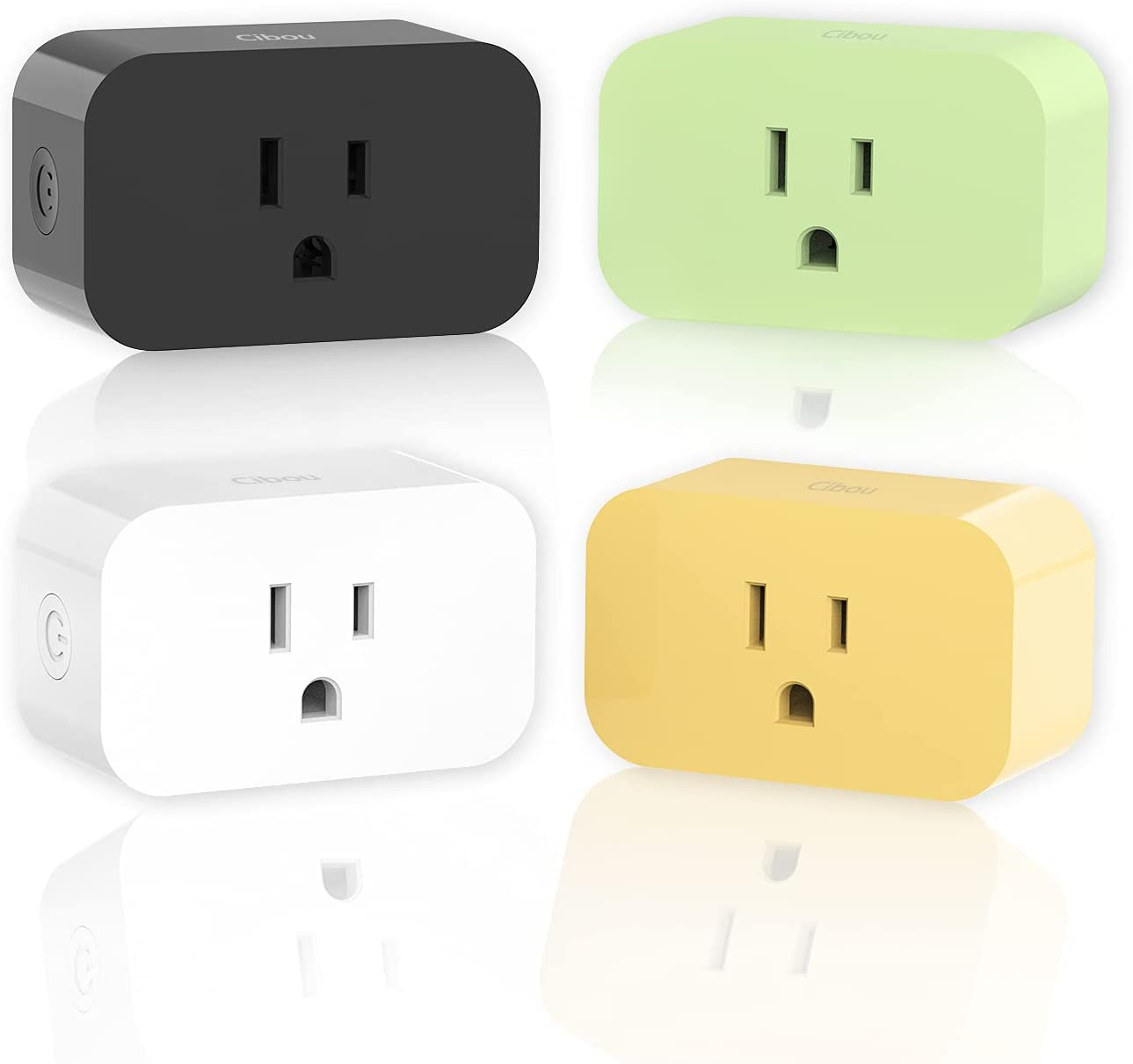 Cibou Smart Plug Mini 15A 4Pack H amazon Alexa Work 2021 spring and Max 74% OFF summer new with Google