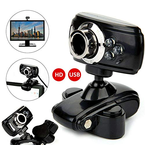 Dalxsh USB 3 LED Video Camera Met Microfoon Voor PC Laptop HD Webcam Video Camera 360 Graden Roterend