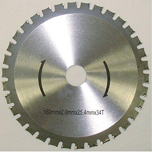 HM Kreissägeblatt 180 x 25,4 mm 34Z Universal für Metall und Kunststoff, hartmetallbestücktes Sägeblatt für viele unterschiedliche Anwendungen
