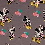 Loopomio Jersey Stoffe Disney Micky Maus Minnie grau 0,50m