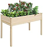YUXO Hochbeet im Garten Kunststoff Eckig Gemüse Gemüse Trog Holz Holz Hochbeet...