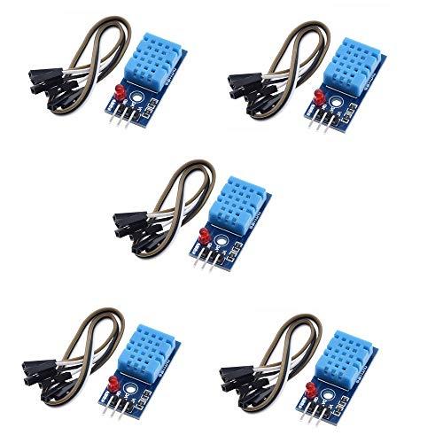 ZkeeShop 5 Stücke DHT11 Sensor Modul Luftfeuchtigkeitssensor und Temperatursensor Compatible für Arduino