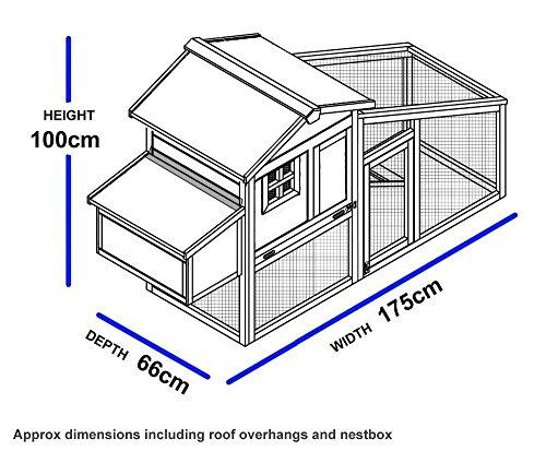 FeelGoodUK NCH10 Kunststoff und Holz Hühnerstall Hen House GEFLÜGEL ARK Home Nest Run Coup - 2