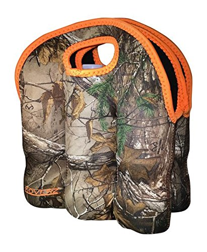 Koverz - #1 Neoprene Insulated 6-Pack Carrier, Beer Bottle Carrier, Six-Pack Tote - Realtree Xtra Camouflage