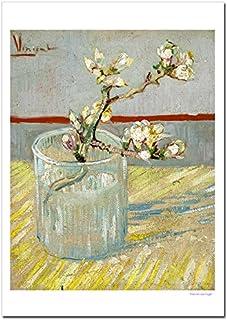 世界の名画 ゴッホ グラスに入れた花咲くアーモンドの枝 ジークレー技法 高級ポスター (B4/257ミリ×364ミリ)