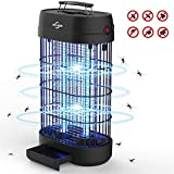 VIFLYKOO Lampe Anti-Moustique, UV LED Tue Mouches Destructeur D' Insectes Electrique 18W Pas de Produits Chimiques avec Piège à Insectes de Grande Capacité pour Une Utilisation en Intérieur