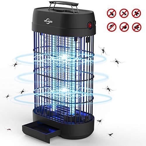VIFLYKOO Lampe Anti-Moustique, UV LED Tue Mouches Destructeur D' Insectes Electrique 20W Pas de Produits Chimiques avec Piège à Insectes de Grande Capacité pour Une Utilisation en Intérieur