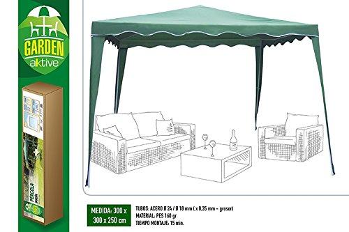 Actieve Garden 53858 paviljoen, 300 x 300 x 250 cm, groen