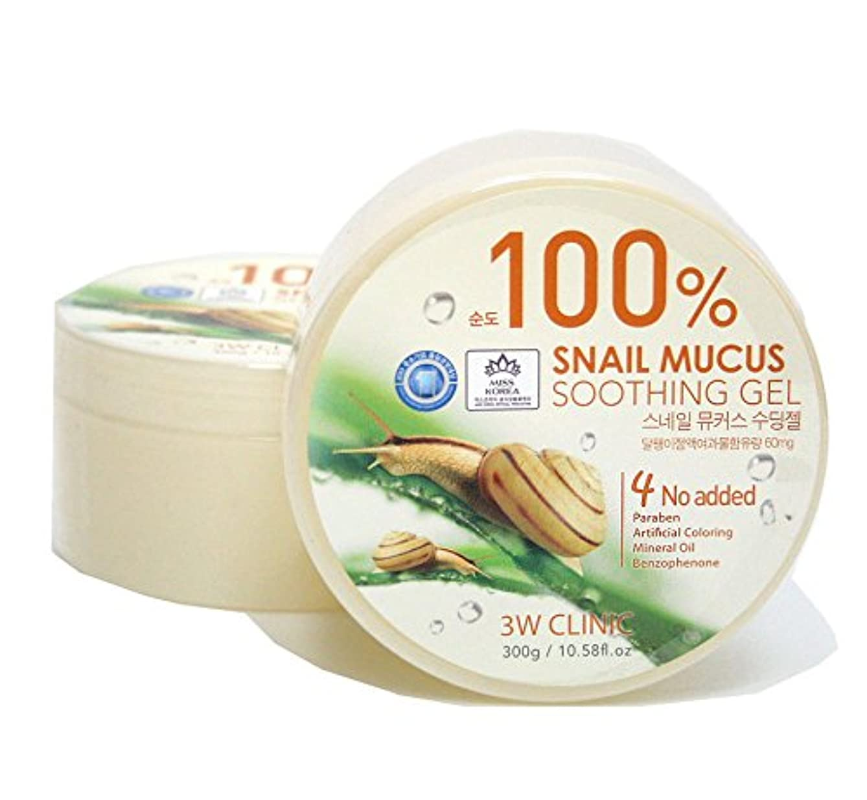 吹きさらしボウリング契約する[3W CLINIC] カタツムリ粘液スージングジェル300g / Snail Mucus Soothing Gel 300g / 水分/オールスキンタイプ / Moisture / fresh and smooth / All Skin Types / 韓国化粧品 / Korean Cosmetics [並行輸入品]