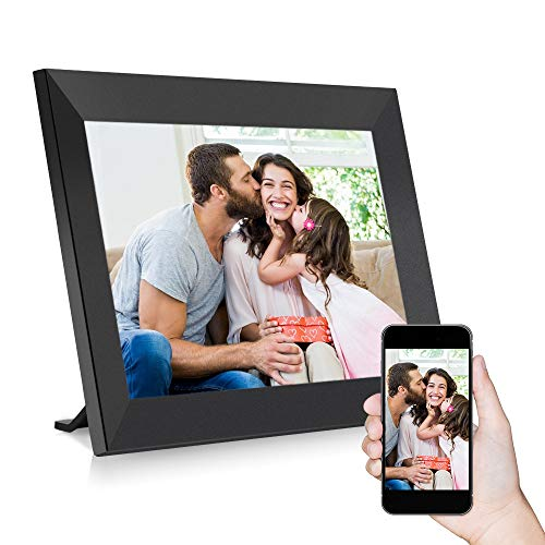 InLoveArts Digitaler Bilderrahmen,10,1 Zoll WiFi-Fotorahmen,1280 x 800 IPS-HD-Touchscreen,Photo Frame mit 16 GB Speicher, kann sofort über App/Facebook/Twitter/E-Mail geteilt werden (schwarz)