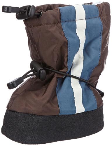 Stonz Jungen Stripe Schneestiefel, Blau (Brown/Blue), S