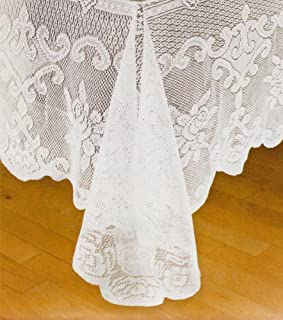 Laura Ashley Fabric Lace Tablecloth, White, 70