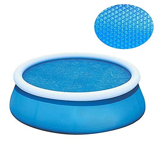 Ueohitsct Cubierta solar de la piscina cubierta de la piscina cubierta redonda cubierta de la piscina tapas de la piscina caliente cubierta solar de la manta