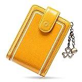 SENDEFN Tarjeteros para Tarjetas de Credito Mujer de Cuero con Cremallera de Bloqueo RFID Billetera pequeña con 13 Ranuras para Tarjetas con Credito
