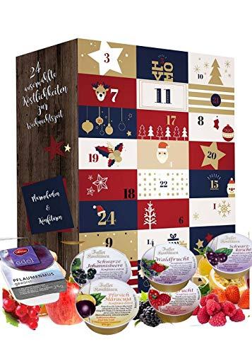 Adventskalender 2020 mit Konfitüren und Marmeladen I 24 Fruchtaufstriche in der Adventszeit I Probierpackungen im Konfitüren Adventskalender I Geschenkset Weihnachtskalender