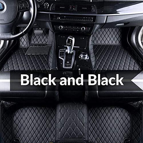 Super1Six Fußmatten Auto Leder für Au-di Q7 4L 2005~2015 5 Sitze Fußpolster Teppichzubehör,Black Black,Wheel Left