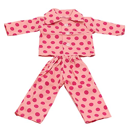 Pijamas Ropa Vestido Juguete para 18 Pulgadas Muñeca American Girl Rosa