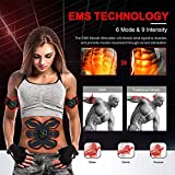 Electroestimulador Muscular Abdominales, Estimulación USB Recargable ABS Trainer para Abdomen/Brazo/Piernas/Cintur