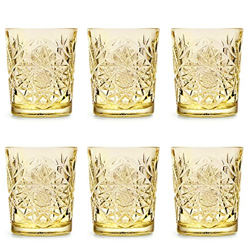 Vaso Hobstar Pale Yellow de Libbey / – 355 ml/35,5 cl - 6 unidades – diseño vintage – apto para el lavavajillas