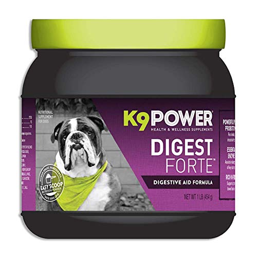 K9 Power - Digest Forte - Healthy Digestive & Immune System Supplement for Dogs - Helps Relieve Diarrhea, Gas & Bloating, Improves Digestion & Absorption (1 lb)