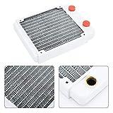 ASHATA Radiador de enfriamiento de Agua, radiador de computadora Blanco Disipador de Calor de Cobre Kits de enfriamiento de Agua Radiador de Cobre de disipación de Calor