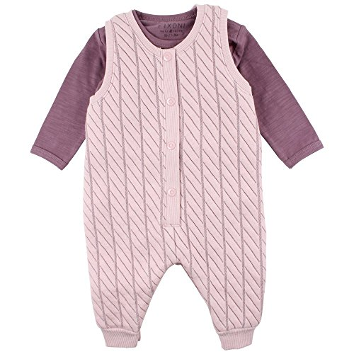 Fixoni Strampler Playsuit Set mit Body (74, Lila)