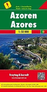 Azores, mapa de carreteras. Escala 1:50.000. Freytag & Berndt.: Toeristische wegenkaart 1:50 000 (Auto karte)