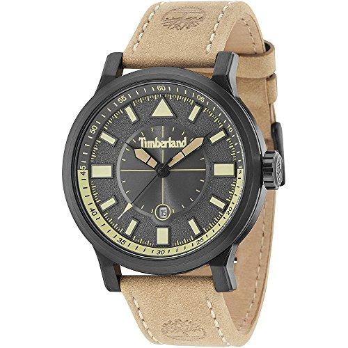 Timberland Reloj Analógico para Hombre de Cuarzo con Correa en Cuero TBL15248JSB.61