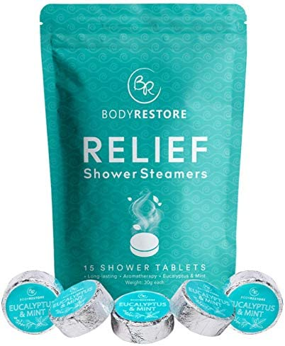 Essential Oil Shower Steamer Set 15 Mint and Eucalyptus Scented Aromatherapy Shower Steamers product image