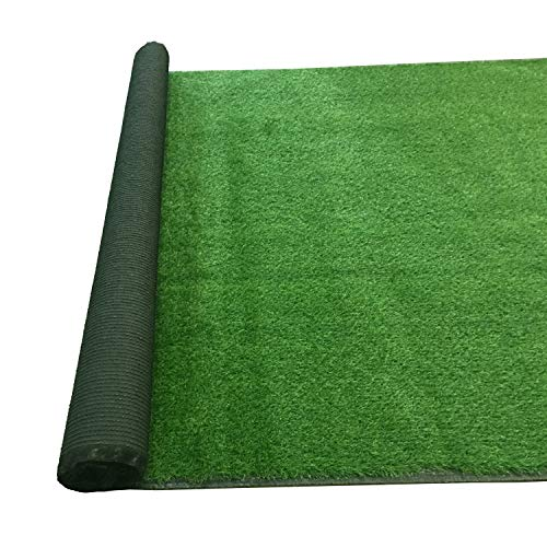 uyoyous 17ft x 6.5ft Artificial Grass Turf Lawn,Realistic Deluxe Artificial Grass Synthetic Thick Lawn Turf Carpet Mat for Pet Indoor Outdoor Yard and Holiday Wedding Lawn 110 Square ft