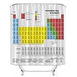 Duschvorhang mit Periodensystem, Polyester, 1,8 m lang, beschwerter Duschvorhang Big Bang Theory Sheldon