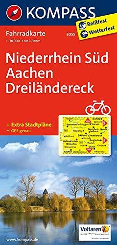 KOMPASS Fahrradkarte Niederrhein Süd - Aachen - Dreiländereck: Fahrradkarte. GPS-genau. 1:70000 (KOMPASS-Fahrradkarten Deutschland, Band 3055)